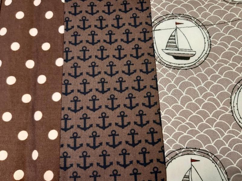 Kleinesbild - Windeltasche maritim, genäht, Etui, Windeletui, Tasche, Babytasche, Utensilo