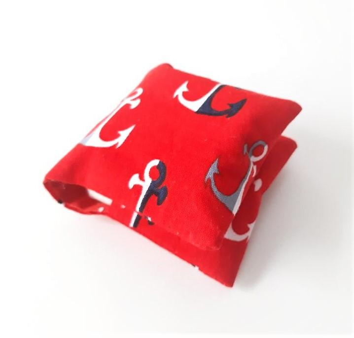 Kleinesbild - Tampontasche, genähtes Etui für Tampons, maritim/ Tasche für Damenhygiene/ Taschenorganizer