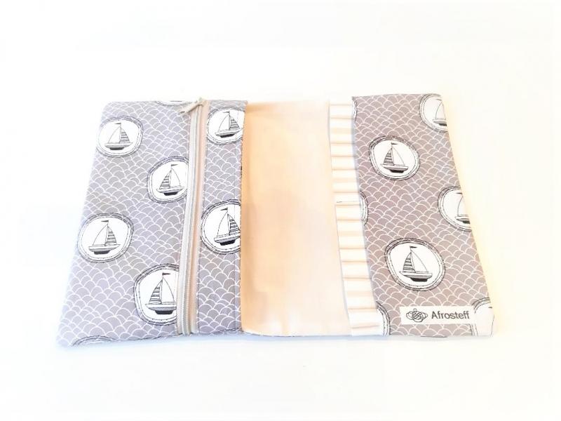 Kleinesbild - Reiseetui, Geldtasche, Dokumententasche genäht, Etui, Taschenorganizer, Briefmappe, Handytasche