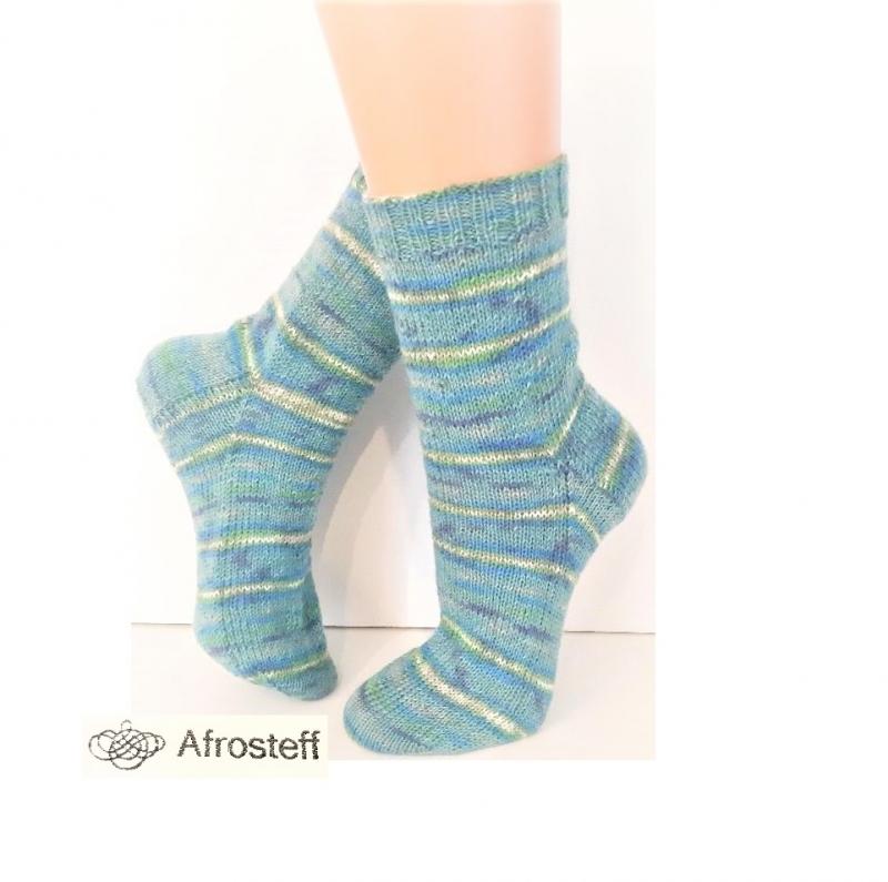 - Handgestrickte Socken Gr. 39-41, Wollsocken mit gestreiftem Farbverlauf, Stricksocken, Socken gestrickt - Handgestrickte Socken Gr. 39-41, Wollsocken mit gestreiftem Farbverlauf, Stricksocken, Socken gestrickt
