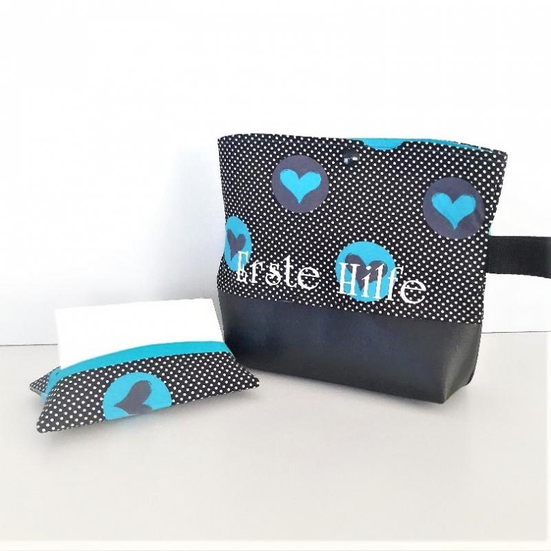 - Reiseapotheke, Medizintasche, Notfalltasche mit Taschentüchertasche   - Reiseapotheke, Medizintasche, Notfalltasche mit Taschentüchertasche