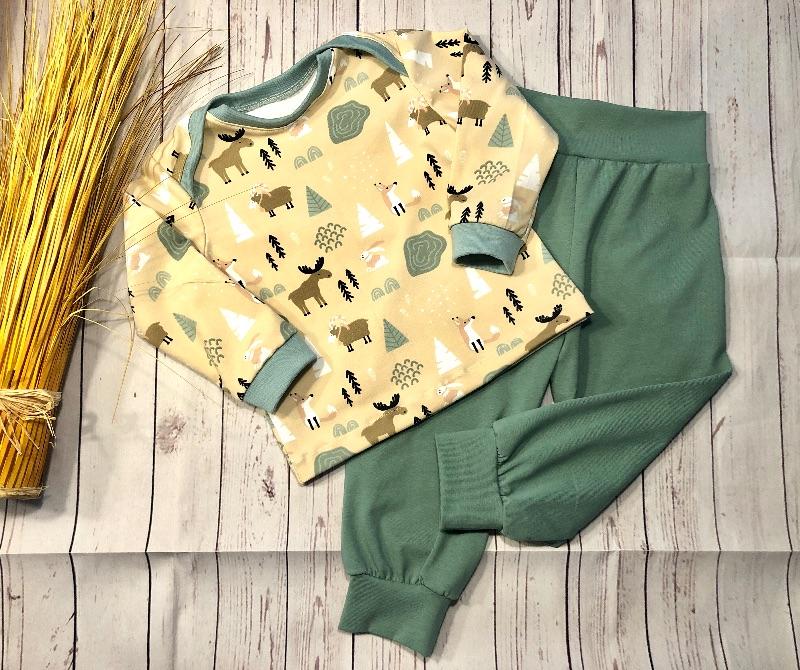 - Set Babyhose und Langarmshirt Gr. 80, Waldtiere, Pumphose Baby Pullover handmade - Set Babyhose und Langarmshirt Gr. 80, Waldtiere, Pumphose Baby Pullover handmade