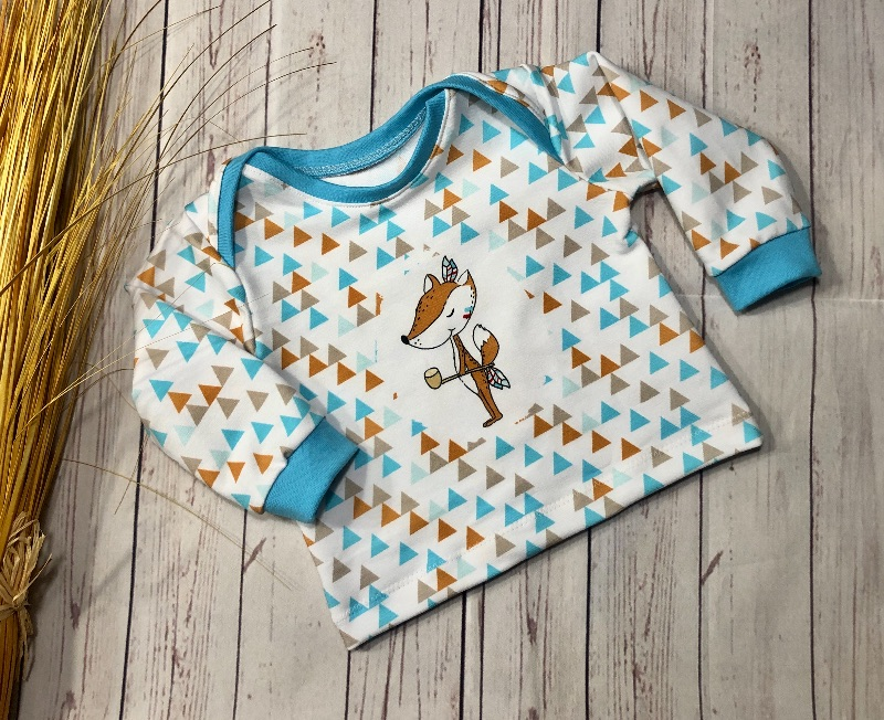- Pullover Baby Gr. 56 Bio-French Terry  - Pullover Baby Gr. 56 Bio-French Terry