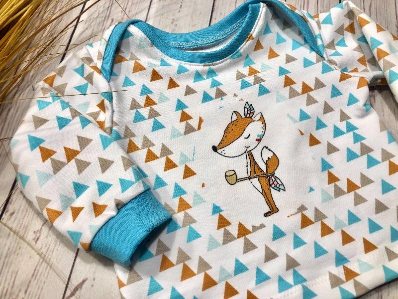 Kleinesbild - Pullover Baby Gr. 56 Bio-French Terry