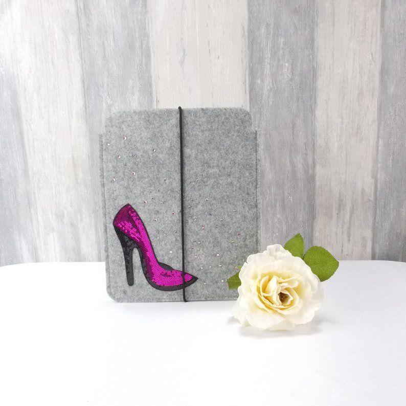 - Tasche für E-Reader oder Tablett, Filz, Storage Bag, hellgrau, High Heels - Tasche für E-Reader oder Tablett, Filz, Storage Bag, hellgrau, High Heels