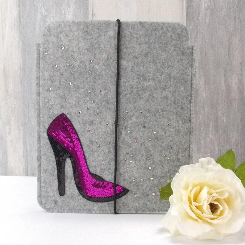 Kleinesbild - Tasche für E-Reader oder Tablett, Filz, Storage Bag, hellgrau, High Heels