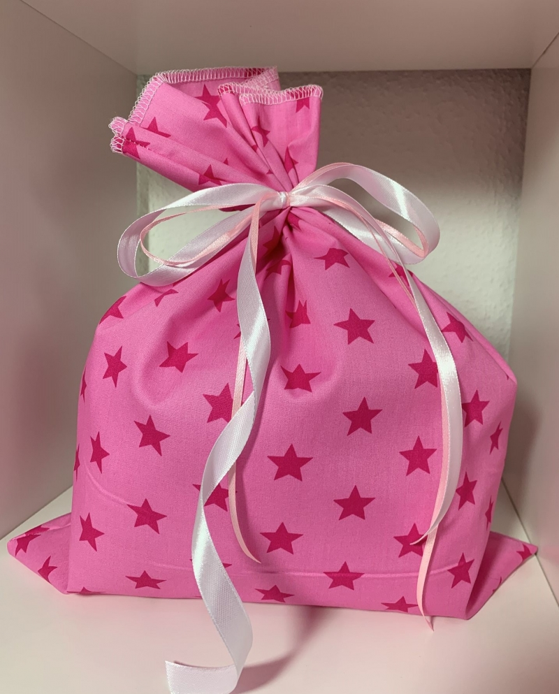 Kleinesbild - Adventskalender-Säckchen Sterne(Rosa/Pink) ★24 Selbst befüllbare Stoffbeutel★ (Kopie id: 100250848)