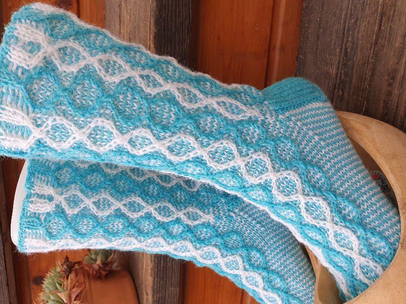 Kleinesbild - Socken Gr. 38-39 handgestrickt  4fädige Sockenwolle