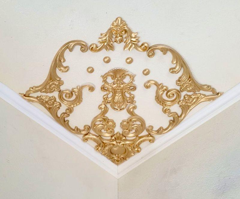 - Traumhafte Stuck Ecke für die Decke in weiß, gold, silber.. Variante 13 - Traumhafte Stuck Ecke für die Decke in weiß, gold, silber.. Variante 13