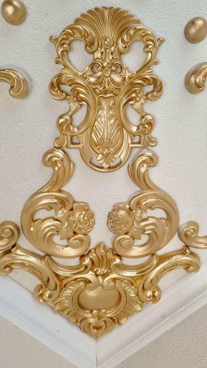 Kleinesbild - Traumhafte Stuck Ecke für die Decke in weiß, gold, silber.. Variante 13