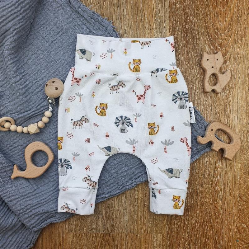 -  Baby Pants aus Jersey -Jungeltiere- Gr.56   -  Baby Pants aus Jersey -Jungeltiere- Gr.56