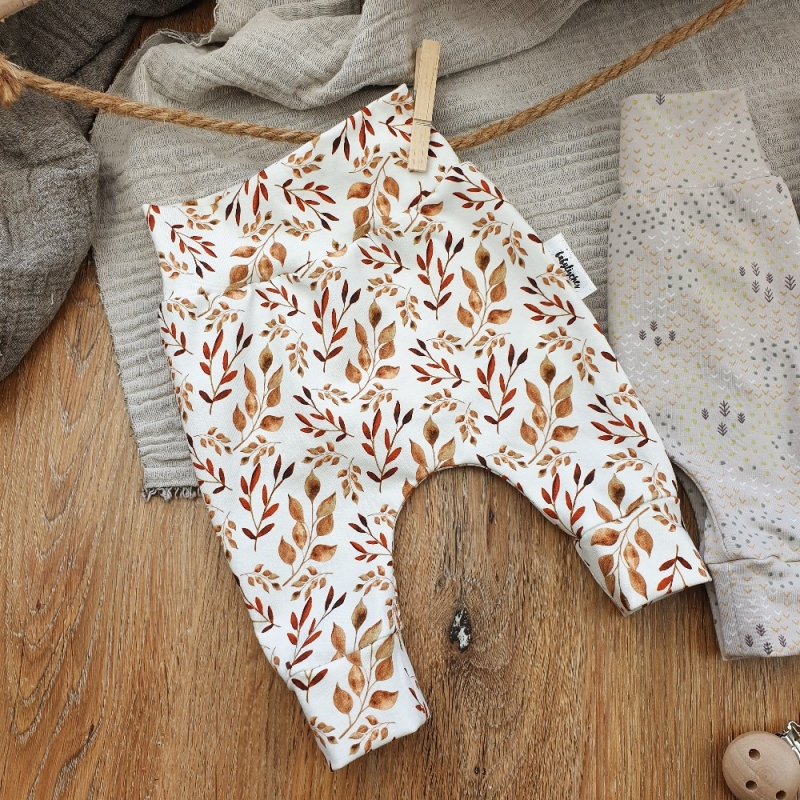 -  Baby Pants aus Jersey -Autum Leaves- Gr.56 -  Baby Pants aus Jersey -Autum Leaves- Gr.56