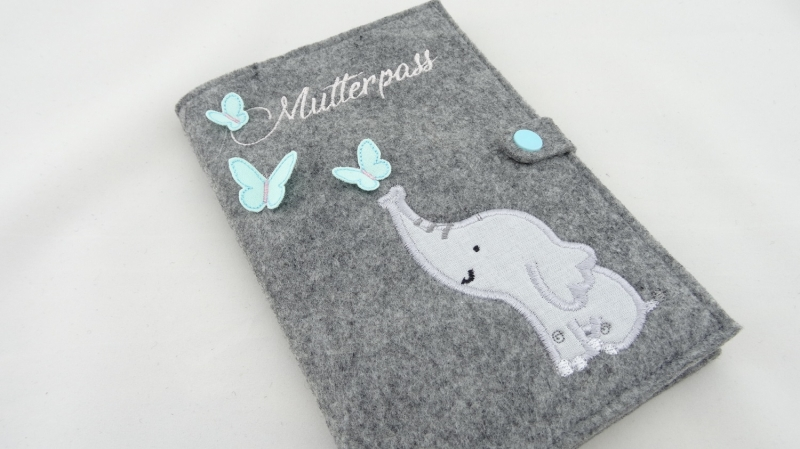 - Mutterpasshülle Elefant  - Mutterpasshülle Elefant