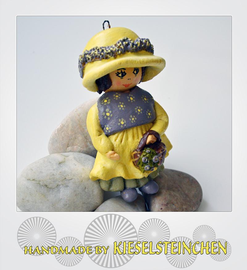 Kleinesbild - Salzteig Figur Mädchen