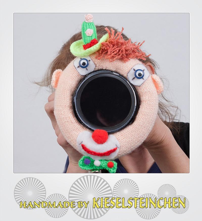 """- Fotografenhelfer/Objektivablenker  """"Clown """" Objektivgröße 98 mm - Fotografenhelfer/Objektivablenker  """"Clown """" Objektivgröße 98 mm"""