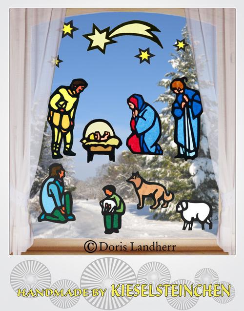 Anlässe Fensterbild Weihnachten Mit 10 Motiven