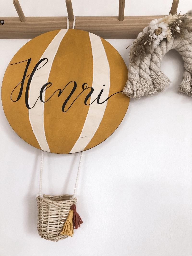 - NEU NEU NEU - Namensschild Heißluftballon mit 3D Rattan Körbchen in deiner Wunschfarbe (Kinderzimmer, Babyzimmer, Taufe, Babyparty, personalisierbar) - NEU NEU NEU - Namensschild Heißluftballon mit 3D Rattan Körbchen in deiner Wunschfarbe (Kinderzimmer, Babyzimmer, Taufe, Babyparty, personalisierbar)