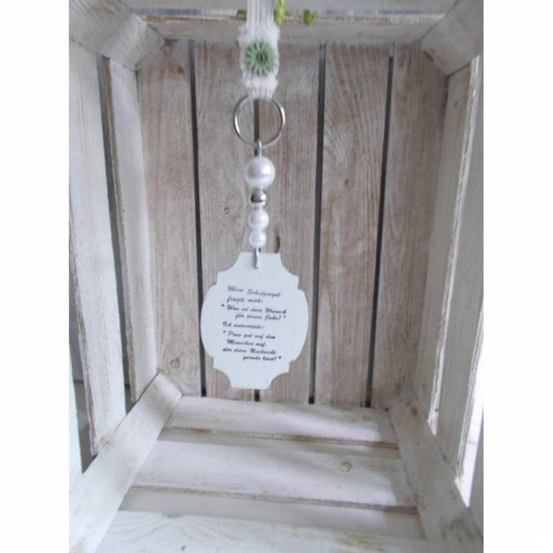 - Fensterdeko, Hänger mit Spruch-Schild aus Holz, Türkranz - Fensterdeko, Hänger mit Spruch-Schild aus Holz, Türkranz