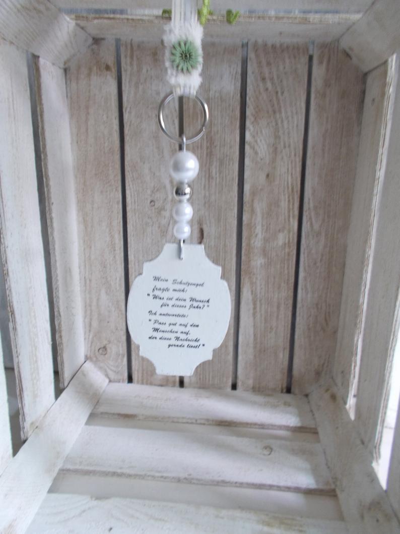Kleinesbild - Fensterdeko, Hänger mit Spruch-Schild aus Holz, Türkranz