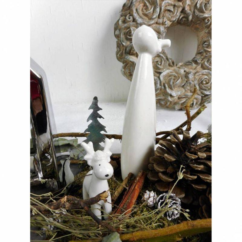 Kleinesbild - Winterdeko Tischdeko Windlicht, silberfarben grau