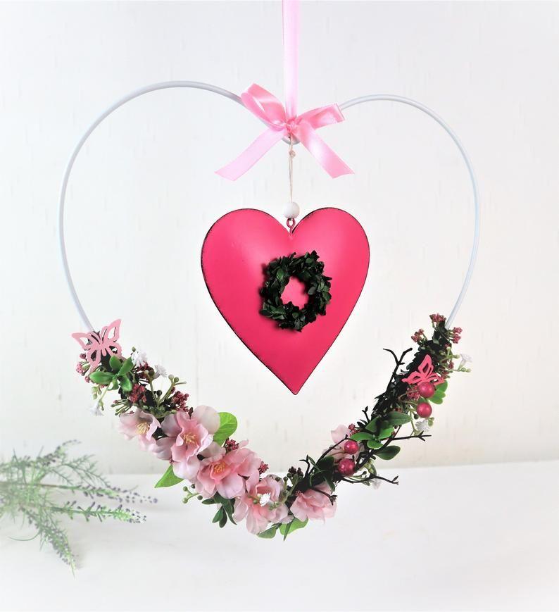 -  Fensterdeko, Fensterhänger, Herz, rosa -  Fensterdeko, Fensterhänger, Herz, rosa