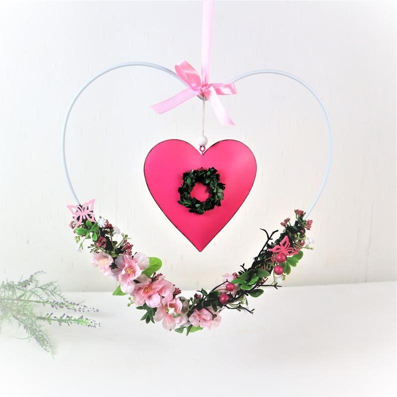 Kleinesbild -  Fensterdeko, Fensterhänger, Herz, rosa