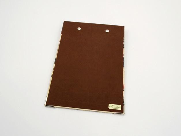 Kleinesbild - Klemmbrett DIN A5 Oldtimerpapier Buchbindehandwerk von Pappelapier