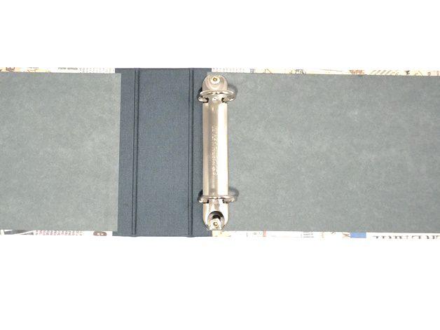 Kleinesbild - Ordner für Kontoauszüge Zeitungsartikel Buchbindehandwerk von Pappelapier