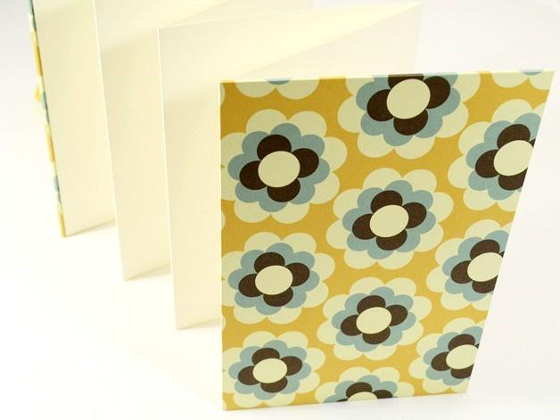 Kleinesbild - Leporello Fotoalbum Faltbuch Retro Buchbindehandwerk von Pappelapier