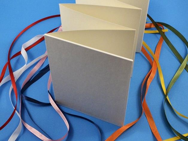 Kleinesbild - Leporello DIY weiß zum Selbstgestalten Buchbindehandwerk von Pappelapier