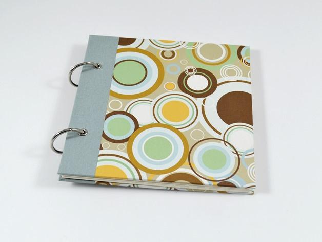 - Fotoalbum Gästebuch Ringe Retro Buchbindehandwerk von Pappelapier  - Fotoalbum Gästebuch Ringe Retro Buchbindehandwerk von Pappelapier