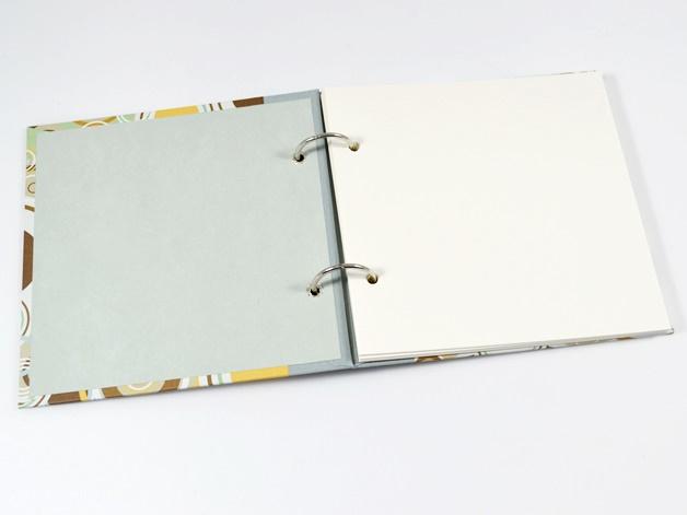 Kleinesbild - Fotoalbum Gästebuch Ringe Retro Buchbindehandwerk von Pappelapier