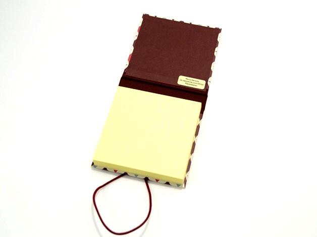 Kleinesbild - Haftnotiz, Klebezettel Mäppchen kleines Geschenk Buchbindehandwerk von Pappelapier
