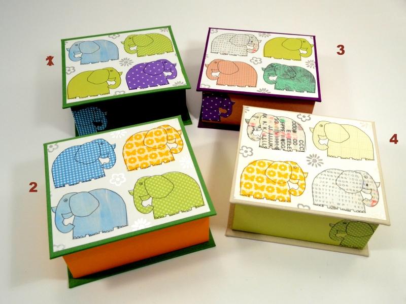 Kleinesbild - Schachtel Elefanten Buchbindehandwerk von Pappelapier