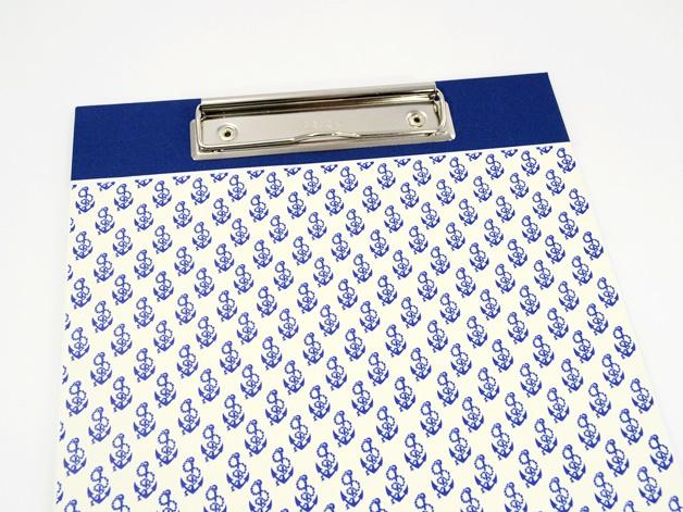 - Klemmbrett DIN A4 Anker als Schreibunterlage - Buchbindehandwerk  - Klemmbrett DIN A4 Anker als Schreibunterlage - Buchbindehandwerk