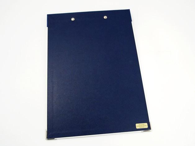 Kleinesbild - Klemmbrett DIN A4 Anker als Schreibunterlage - Buchbindehandwerk
