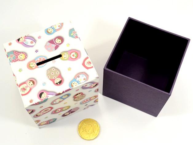 Kleinesbild - Spardose Matroschka Buchbindehandwerk von Pappelapier