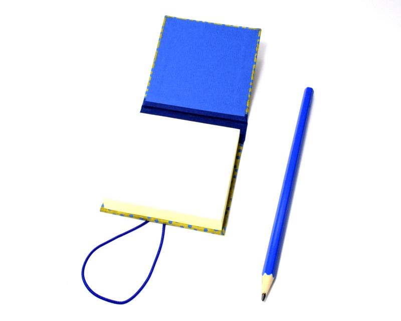 Kleinesbild - Haftnotiz, Klebezettel Mäppchen Punkte Buchbindehandwerk von Pappelapier
