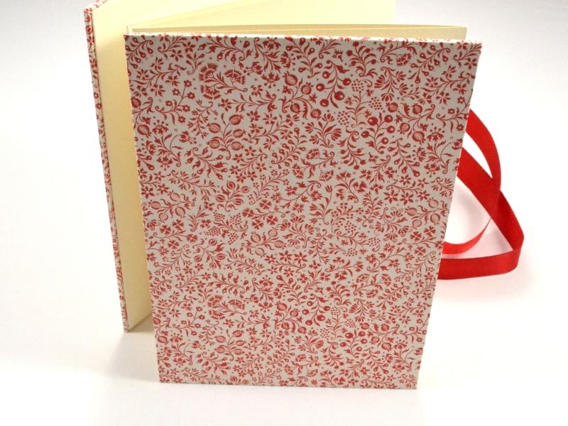 Kleinesbild - Leporello Fotoalbum Faltbuch rote Blumen