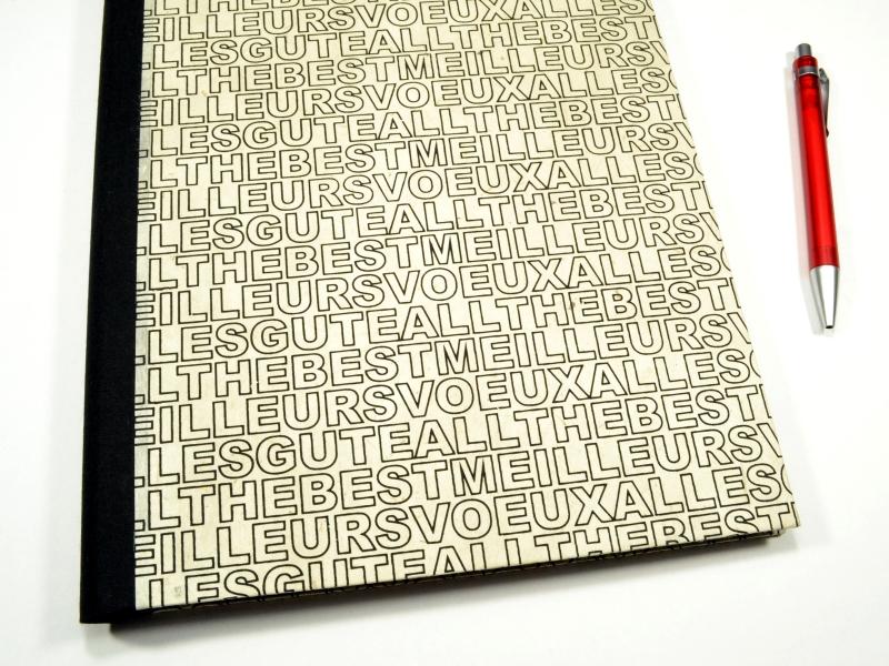 Kleinesbild - Notizblock Mappe Kladdenhülle Buchstaben DIN A4