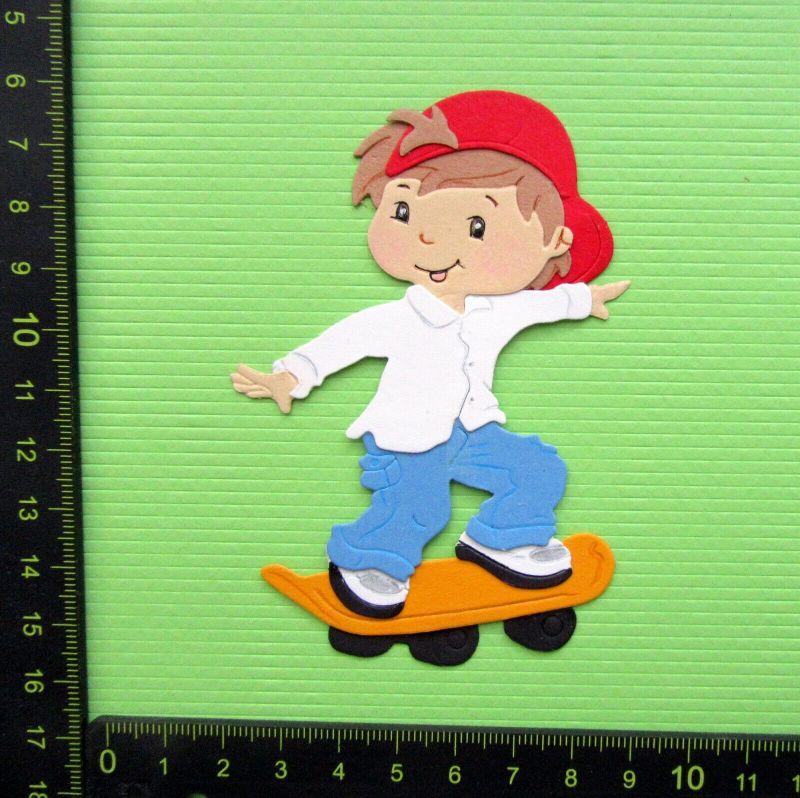 - Stanzteile Scrapbooking Kartenaufleger Kartenschmuck  Junge Skateboardfahrer - Stanzteile Scrapbooking Kartenaufleger Kartenschmuck  Junge Skateboardfahrer