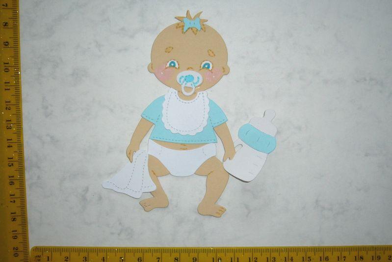 - Scrapbooking  Stanzteil  Kartendeko  Kartenschmuck  Baby Junge sitzend  - Scrapbooking  Stanzteil  Kartendeko  Kartenschmuck  Baby Junge sitzend