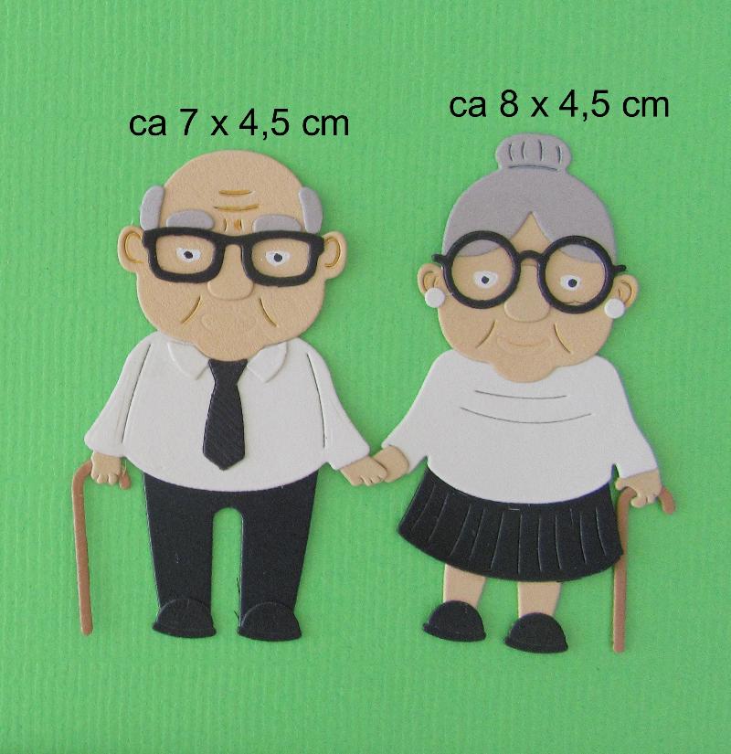 -   Stanzteil  Kartendeko  Kartenschmuck Scrapbooking Oma und Opa  -   Stanzteil  Kartendeko  Kartenschmuck Scrapbooking Oma und Opa