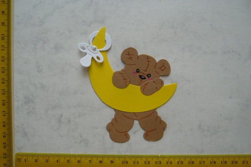 -   Stanzteil  Kartendeko  Kartenschmuck Scrapbooking Baby Teddy auf Mond -   Stanzteil  Kartendeko  Kartenschmuck Scrapbooking Baby Teddy auf Mond