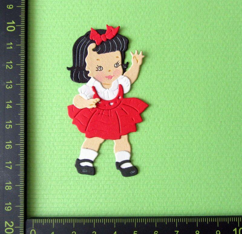 -   Stanzteil  Kartendeko  Kartenschmuck Scrapbooking Kindergeburtstag süßes kleines Mädchen -   Stanzteil  Kartendeko  Kartenschmuck Scrapbooking Kindergeburtstag süßes kleines Mädchen