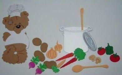 -   Stanzteil  Kartendeko  Kartenschmuck Scrapbooking Kindergeburtstag Chefkoch mit Gemüse und Zubehör -   Stanzteil  Kartendeko  Kartenschmuck Scrapbooking Kindergeburtstag Chefkoch mit Gemüse und Zubehör