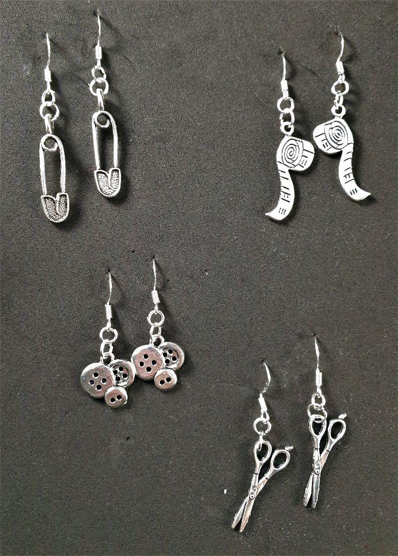 Kleinesbild - Ohrringe, verschiedene Anhängerformen, silber