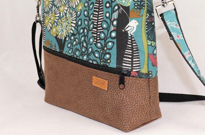 Kleinesbild - Umhängetasche,  Schultertasche, Reißverschlusstasche, floral