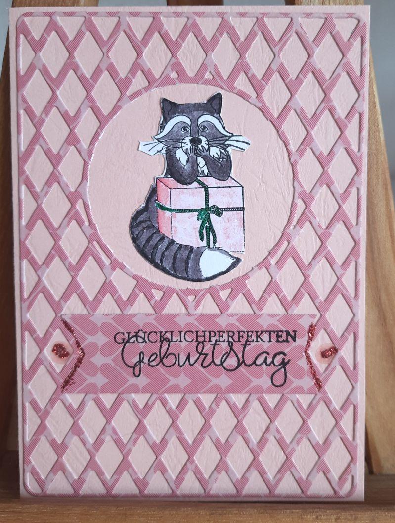 - witzige Geburtstagskarte, der Kater beschützt das Geschenk - witzige Geburtstagskarte, der Kater beschützt das Geschenk