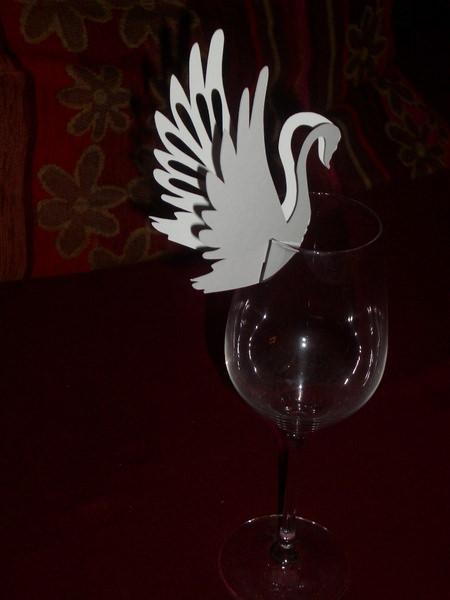 Kleinesbild - Tischkarten Hochzeit Kommunion Platzkarten Weinglastischkarte